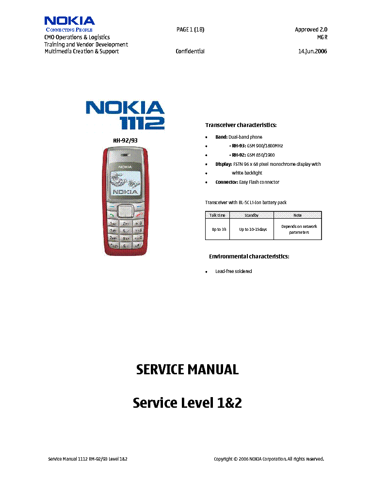 nokia 1208 service manual download