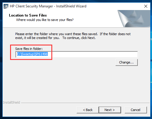 manually remove hp client security