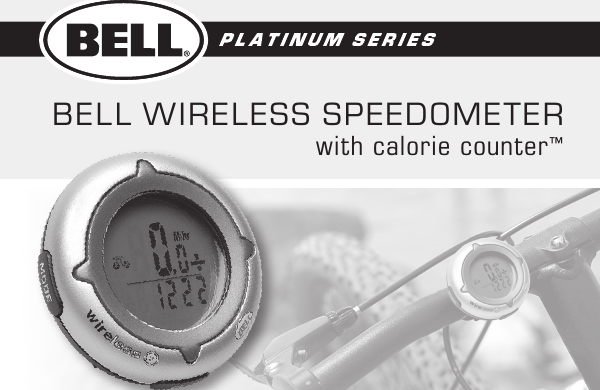 bell wireless speedometer manual pdf