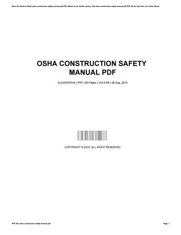 construction health safety manual pdf