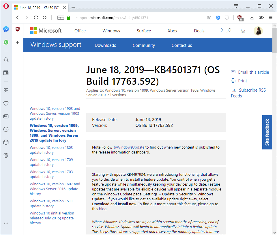 windows 10 version 1809 manual download